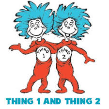how to draw thing one and thing two from dr seuss the cat in the hat