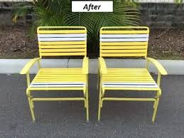 vinyl straps for patio chairs reste condion furnure cll vrious cols strp