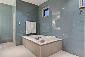 dallas bathroom wall tiles with metal towel bars contemporary and blue tile  glass Large Format 5