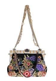 Snakeskin Designer Bags Multicolor Vanda Floral Crystal Snakeskin Bag Designer