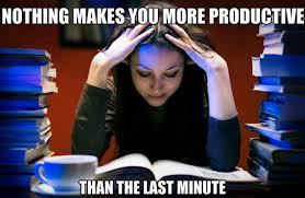 Nothing makes you more productive than the last minute - Memes ... via Relatably.com