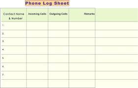 Sample Call Log Sheet Pdf Hotel Courtesy Elektroautos Co