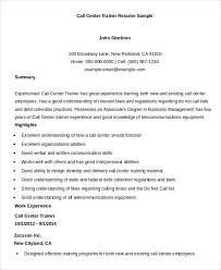 Resume Center New Call Centre Resume Sample Free Professional Resume Templates
