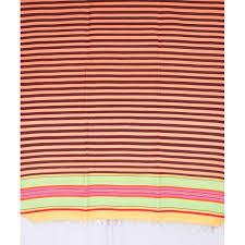 multicolored striped durry