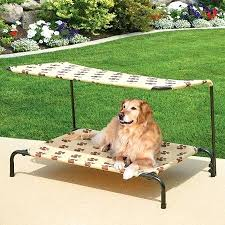 2 In 1 Indoor And Outdoor Pet Bed With Removable Top Canopy ...