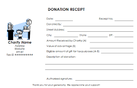 donation receipt forms tax deductible donation receipt template
