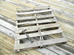 wood pallet diy raised planter box