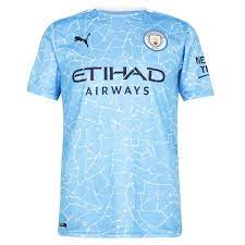 Manchester City Home Jersey with Your Name 2020/21 (Puma) 757058-01 + NAME