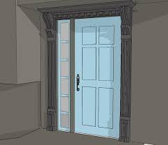 notable entry door trim new entry door trim using old corbels protradecraft