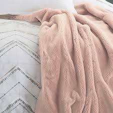 Blush Colored Throw Blanket