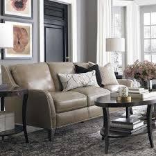 Taupe leather sofa 1