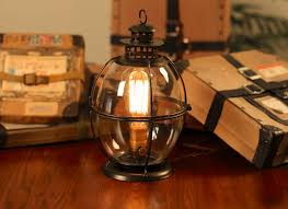 edison lamp vintage lantern table lamp rustic lamp edison bulb steampunk antique