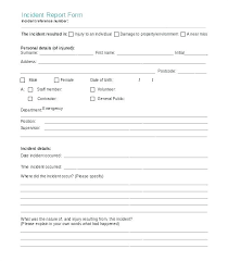 Vehicle Incident Report Template Motor Accident Form Uk Car