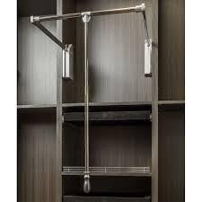 image of wardrobe lighted closet rod