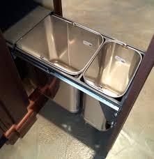 Metal Kitchen Storage Cabinets Storage Metal Kitchen Garbage Can Storage With Double Cans Hidden