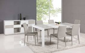 Extendable Glass Top Leather Italian Dining Table And Chair Sets