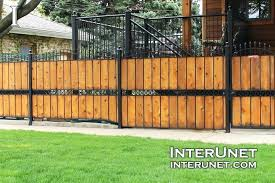 metal fencing ideas uk wood fence combination metal and wood privacy fence ideas corrugated designs