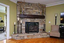 vintage fireplace mantle hand hewn 02