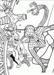Coloring spiderman can be a little tough because there are a this coloring page shows spiderman hanging upside down, holding onto his cobweb. Spectacular Spider Man Coloring Pages Coloring Home
