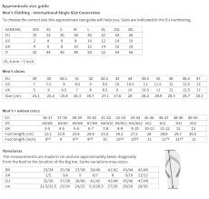 Bke Size Conversion Chart 36 True Versace Jeans Size Chart