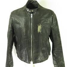 home mens outerwear jackets vine 70s schott cafe racer leather jacket 52 or l biker black talon