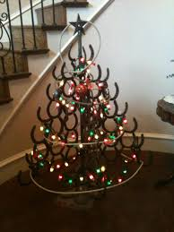 Horseshoe Christmas Tree With Lights