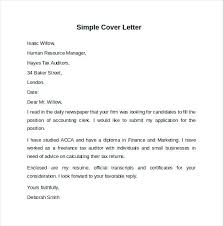 Cover Letter Template Example Simple Examples For Resume