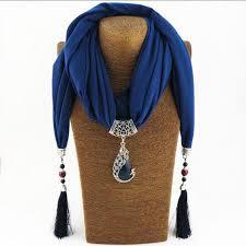 whole silk scarf necklace peacock pendant neckerchief scarves women printed silk ler 2017 new designer scarfs jewelry bijoux pendants and necklaces