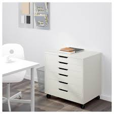 Convert Cabinet To File Drawer Alex Drawer Unit On Casters White Ikea
