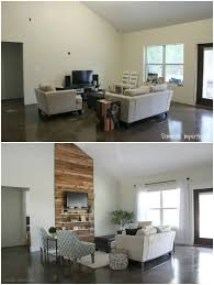 a cabin chic living room transformation