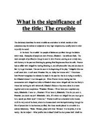 what is the significance of the title the crucible gcse page 1 zoom in