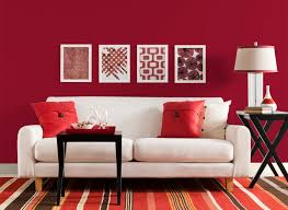 Red Paint Colors For Living Room Living Room In Red Delicious Living Rooms Rooms By Color