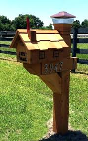 Double Mailbox Post Plans Double Mailbox Post Plan Wooden Mailboxes
