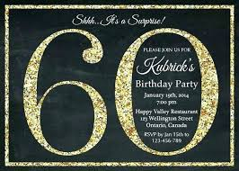 Free Surprise 60th Birthday Party Invitation Templates Luxury For