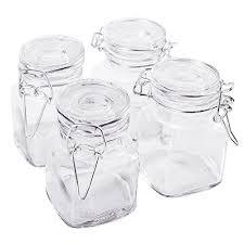 Kitchen Decorative Filled Jars 10000 100100 Square Glass 10000oz Jar with Hinge Glass Lid for Home Kitchen 76