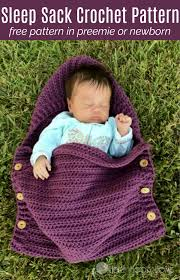 Newborn Crochet Patterns Extraordinary Newborn Sleep Sack Free Crochet Pattern