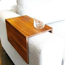 couch armrest table living room astonishing couch side table sofa arm table trays wooden couches on