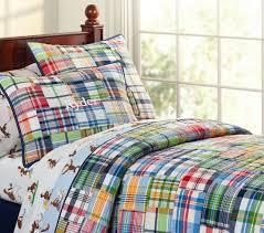 boys plaid bedding
