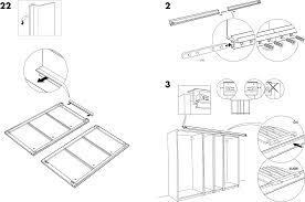 Handleiding Ikea Pax Stordal Schuifdeuren Pagina 7 Van 12 Dansk Ikea Pax Kast Schuifdeuren Handleiding