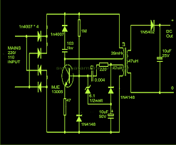 smps circuit diagram ireleast info cheapest smps circuit using mje13005 electronic circuit projects wiring circuit