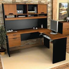 l shaped office desk cheap. Furniture Corner L Shaped Office Desks Black Accent Color Modern Adjustable Armrests Leather Swivel Chairs Ideas Desk Cheap