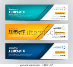 banner design template abstract web banner design background header stok vektör 562431517