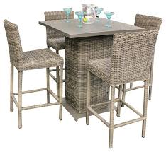 Outdoor Bar Stools And Table Royal Wicker Pub With 5 Piece Set