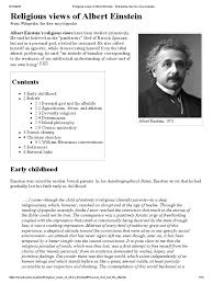 religious views of albert einstein the religious views of albert einstein the encyclopedia pantheism social institutions