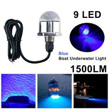 Underwater Drain Plug Led Light Dasmarine 12v 1 2 Npt Underwater 9 Led Drain Plug Light M12 X 1 5 Stainless Steel Marine Underwater Blue Led Light Boat