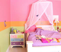 pink girls bedroom furniture 2016. Hot Pink Girls Bedroom With Hand Painted Nightstand Next To A Bed Canopy Furniture 2016 G