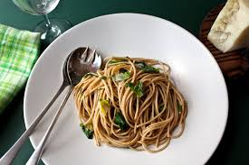 whole wheat pasta cooked. Beautiful Pasta Whole Wheat Spaghetti With Green Garlic And Chicory On Pasta Cooked N