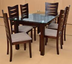 nice glass top dining table and chairs glass top kitchen tables rectangle glass dining table set