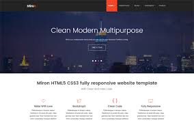 Modern Website Templates Custom Miron Responsive Website Template WrapBootstrap