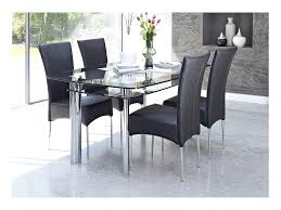 elegant glass kitchen table and chairs 36 photos within cameo black